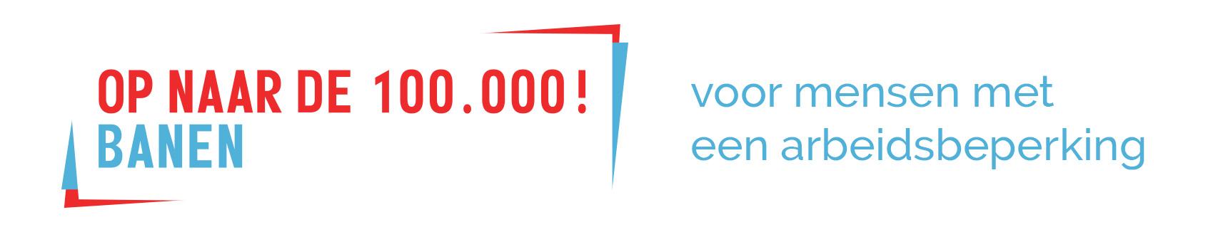 Op naar de 100.000 banen! Retina Logo