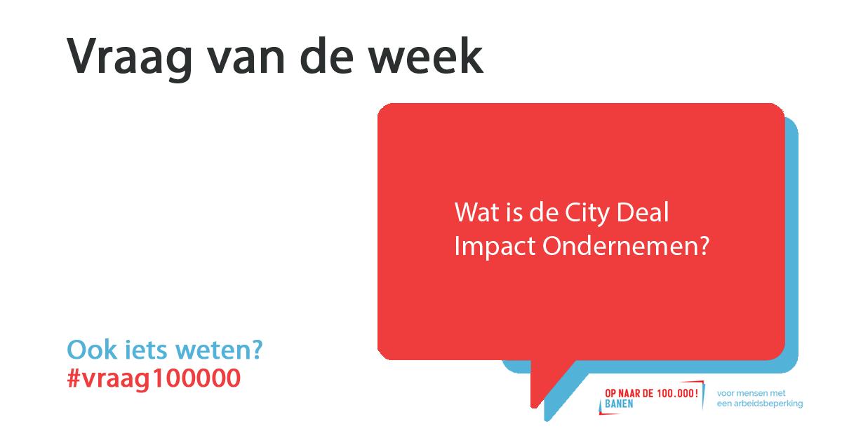 City Deal Impact Ondernemen